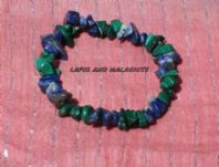 Lapis and Malachite Gemstone Chip Bracelet